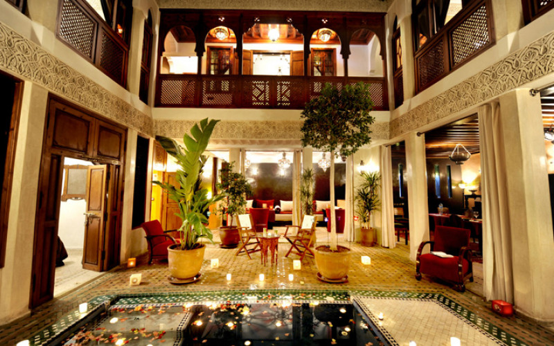 Riad Belle Epoque Hotel en Marrakech de lujo Hall