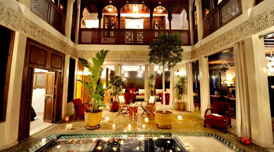 Rusticae Marruecos Hotel Riad Belle Epoque de lujo Hall