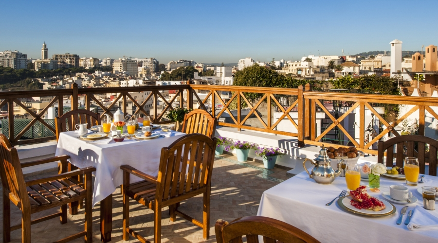 Rusticae Tánger Hotel Riad La Maison Blanche romántico terraza