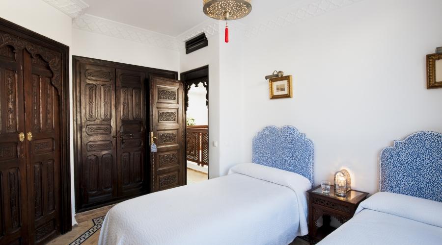 Rusticae Tánger Hotel Riad Maison Blanche romántico Habitación