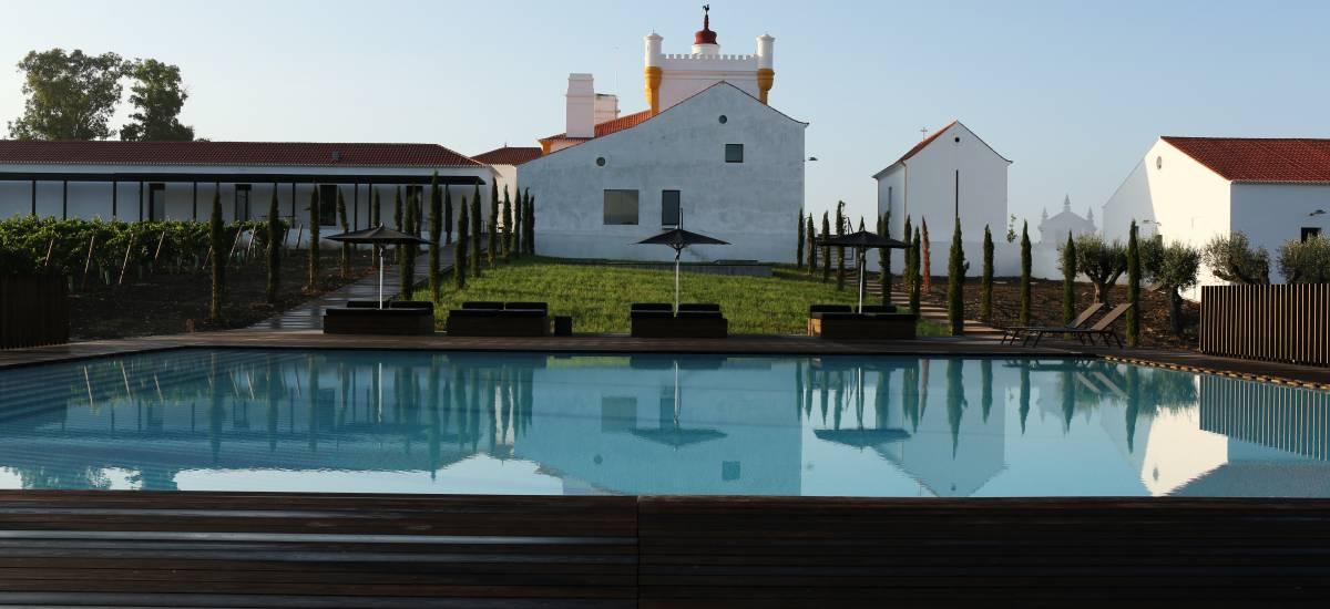 Rusticae Alentejo Portugal Torre de Palma Wine Hotel con piscina
