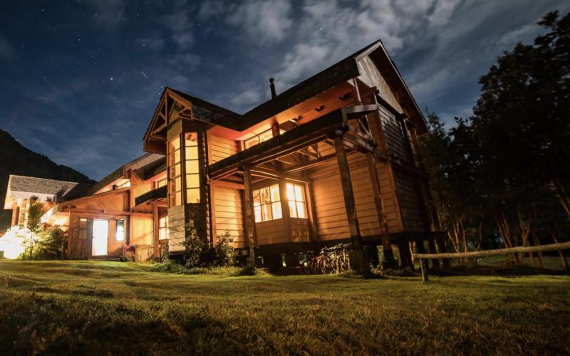 Yelcho Hotel in Patagonien Landschaft Yelcho Lake Hotel