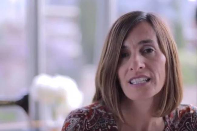Isabel en el programa de Julia Otero