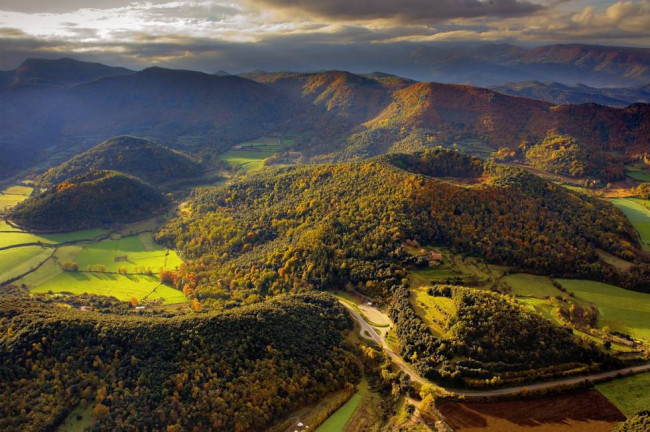 Paisaje Parque Natural de la Zona Volcánica de La Garrotxa